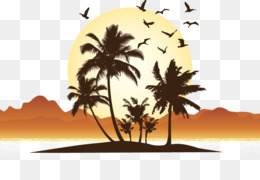 Sunset Palm Tree Clipart Image Transparent Stock Tree - Beach Sunset  Background Png (#5438195) - PinClipart