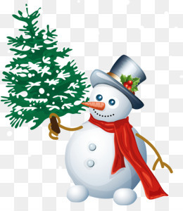 snowman with tree png clipart 5a3b675fa40e21.852413321513842527672
