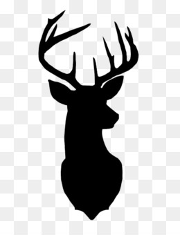 Graphic Free Library Silhouette Illustration Stag Deer - Deer Head Cartoon  Png Clipart - Full Size Clipart (#253644) - PinClipart