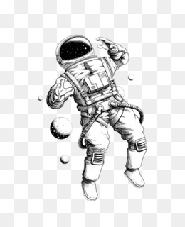Astronaut Outer Space Coloring Page - Coloring Home | 320x260
