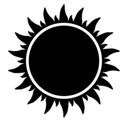 Sun Black And White Png And Sun Black And White Transparent