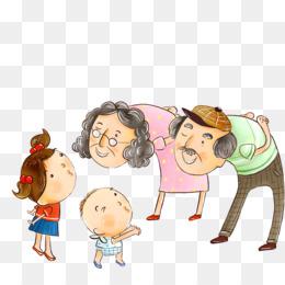 Grandma Filial Piety Cartoon Boy Png And Psd - Taking Care Of Grandma  Cartoon , Free Transparent Clipart - ClipartKey