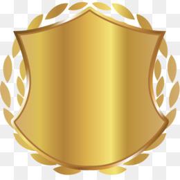 Gold Schild Golden Shieldshieldgold Labelgoldene