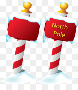 Transparent North Pole Illustration for Merry Christmas