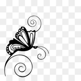 Black And White Flower