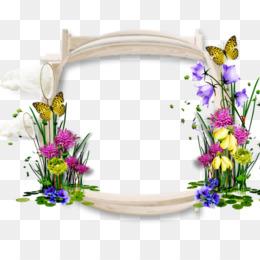 Floral Background Frame