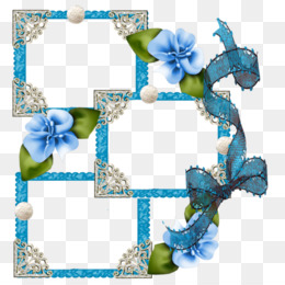 Blue Background Frame