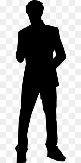 Sideway Silhouette Of Man - Person Standing Sideways Silhouette Transparent  PNG - 224x777 - Free Download on NicePNG