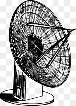 Radio Telescope Black And White