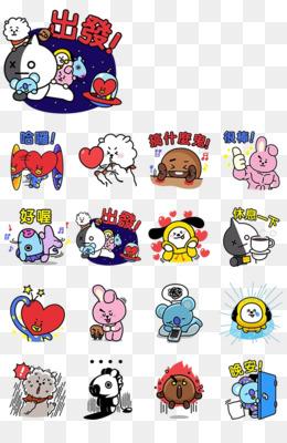 kisspng bt21 bts sticker line v live 5b7660ce8d9787.18133951153448468658