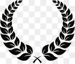 Laurel Wreath Black And White