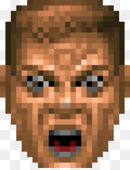 doom guy face png