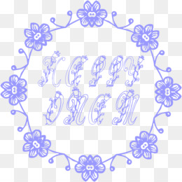 Blue Flower Borders And Frames