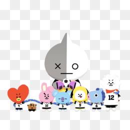 kisspng bts bt21 k pop bighit entertainment co ltd line bt21 tata shooky cooky koya van chimmy mang rj kpo 5c3dce3d54ac54.5324390915475543653468