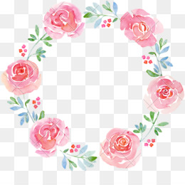 Watercolor Wreath Background