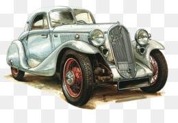 Vintage car Antique car Drawing Classic car