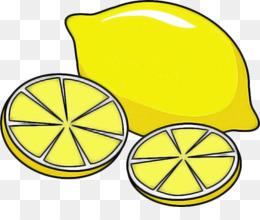 yellow clip art citrus line art lemon