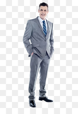 suit clothing standing formal wear blue