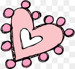 pink heart cartoon love line