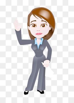 cartoon finger gesture businessperson animation