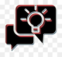 Idea icon Talk icon Creative icon