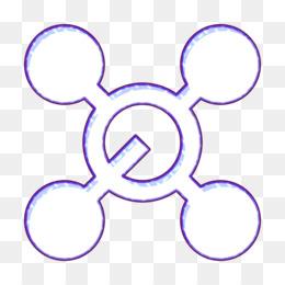 Physics and Chemistry icon Molecule icon Molecular icon