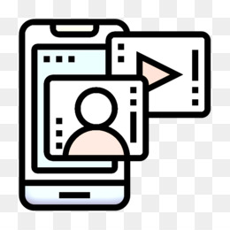 Videoplayer icon Communication icon Smartphone icon