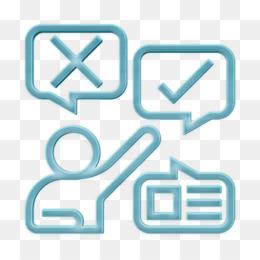 Opinion icon Communication icon Expression icon