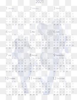 2021 Calendar PNG and 2021 Calendar Transparent Clipart Free