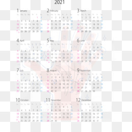2021 Calendar PNG and 2021 Calendar Transparent Clipart Free