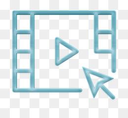 Video player icon Movie icon Interaction Set icon