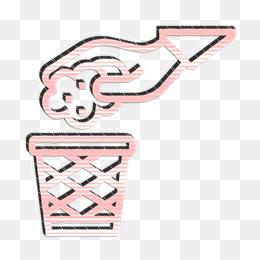 Garbage icon Littering icon Trash icon