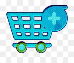 Supermarket icon Shopping cart icon Finance icon