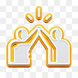 High five icon Friendship icon Trust icon