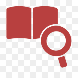 Study icon Research icon Magnifier and open book icon
