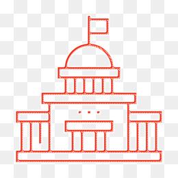 Capitol icon Parliament icon Voting Elections icon