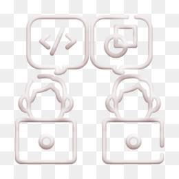 Teamwork icon Team icon Code icon