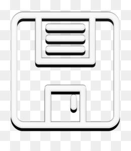 Web application UI icon interface icon Floppy disk save button icon