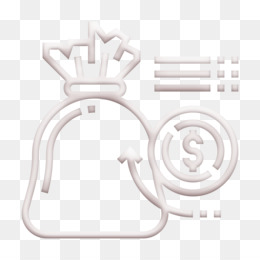 Cash icon Money bag icon Saving and Investment icon