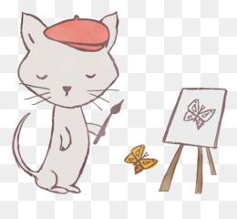 cat kitten whiskers paw dog