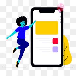 mobile phone ebusiness girl